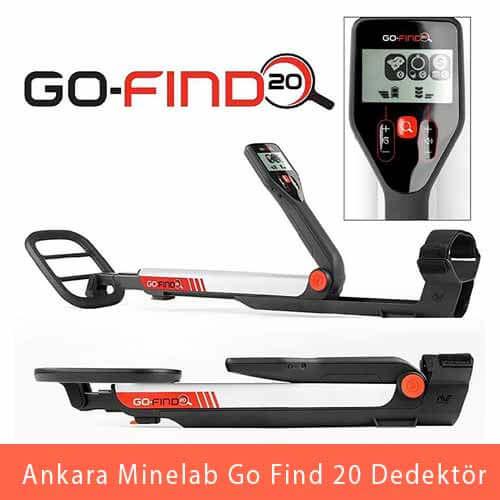 Ankara Minelab, Go Find 20 Dedektör - Ankara Dedektör, Minelab Dedektör, Minelab Define Dedektörü, Ankara Altın Dedektörü, Ankara Dedektör