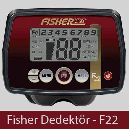 Fisher Dedektör F22 - Metal Dedektörü, Fisher Dedektör, Ankara Dedektör, Ankara Dedektör Cihazları,Fiyatları, Yorumları, Özellikleri